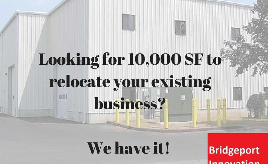 Large commercial warehouse for lease at Bridgeport Innovation Center on Connecticut Ave in Bridgeport, CT